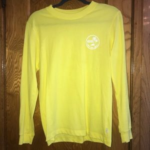 vans neon yellow long sleeve